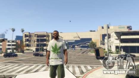 GTA 5 T-Shirt Verde Hoja