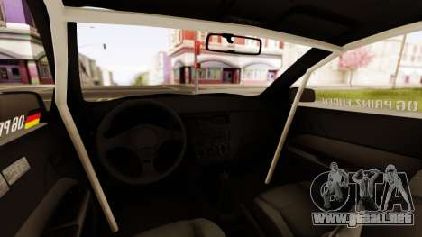 Mitsubishi Lancer Evolution VIII para visión interna GTA San Andreas