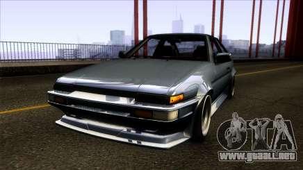 Toyota Trueno AE86 1986 para GTA San Andreas
