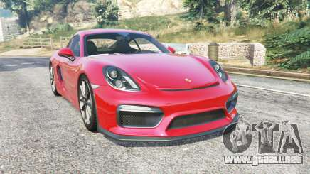 Porsche Cayman GT4 (981C) 2016 v1.2 [replace] para GTA 5