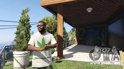 T-Shirt Verde Hoja para GTA 5