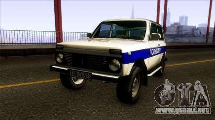 Lada Niva 4X4 Policija Republika Srpska para GTA San Andreas