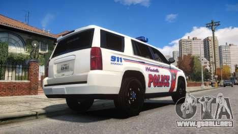 Chevy Tahoe police para GTA 4 visión correcta