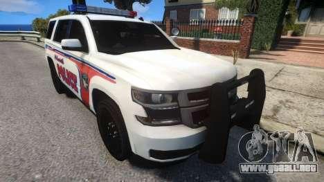 Chevy Tahoe police para GTA 4 vista interior
