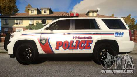 Chevy Tahoe police para GTA 4 left