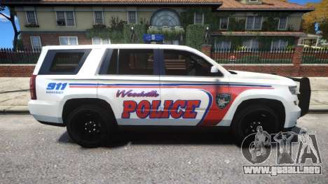 Chevy Tahoe police para GTA 4 vista hacia atrás