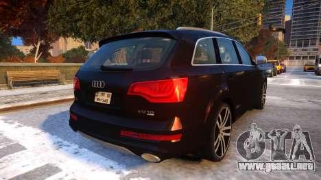 Audi Q7 V12 TDI 2009 Baku Style (fix parameters) para GTA 4 visión correcta