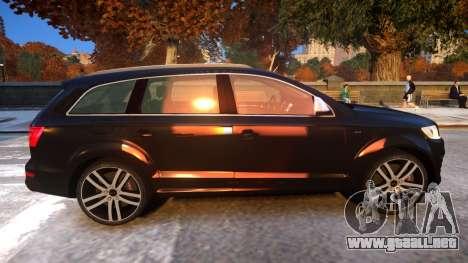 Audi Q7 V12 TDI 2009 Baku Style (fix parameters) para GTA 4 vista hacia atrás