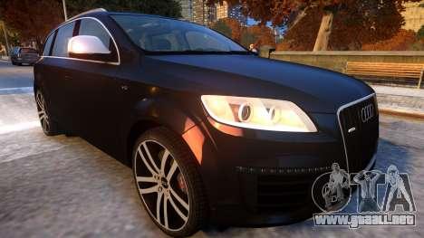 Audi Q7 V12 TDI 2009 Baku Style (fix parameters) para GTA 4 vista interior