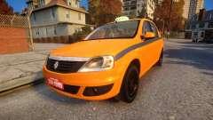 Renault Logan 2013 Taxi Do Rio De Janeiro para GTA 4