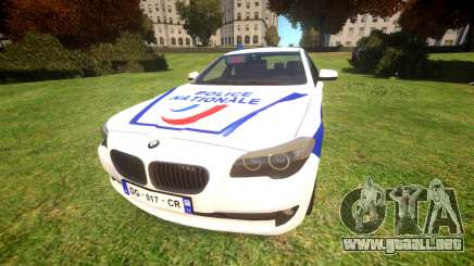 BMW Police Nationale para GTA 4