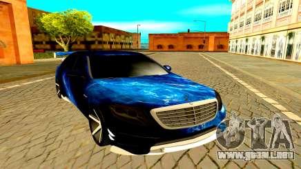 Mercedes-Benz W222 black para GTA San Andreas