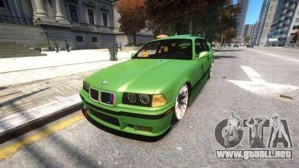 BMW E36 Street Tuning para GTA 4