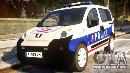 Peugeot Bipper Police para GTA 4