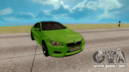BMW M6 verde para GTA San Andreas