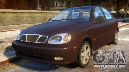 Daewoo Lanos Sedan SX US 1999 para GTA 4