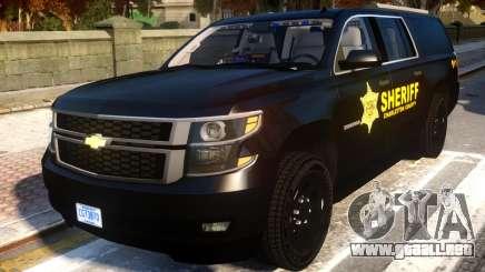 2015 Suburban Target Zero Units Police para GTA 4