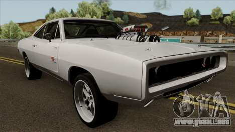 Dodge Charger RT 1970 FnF 7 para visión interna GTA San Andreas