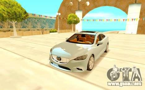 Mazda 6 para GTA San Andreas vista hacia atrás