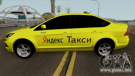 Ford Focus 2 Sedan 2009 Yandex Taxi para GTA San Andreas left