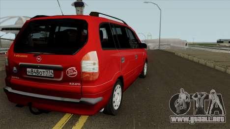 Opel Zafira Diesel para GTA San Andreas