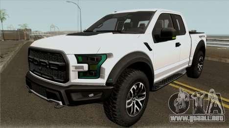 Ford F150 Raptor 2017 para GTA San Andreas