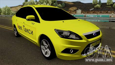 Ford Focus 2 Sedan 2009 Yandex Taxi para visión interna GTA San Andreas