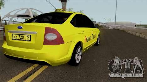 Ford Focus 2 Sedan 2009 Yandex Taxi para GTA San Andreas