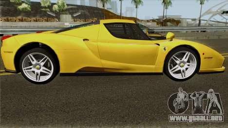 Ferrari Enzo 2003 para GTA San Andreas vista hacia atrás