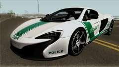 McLaren 650S Spyder Dubai Police v1.0 para GTA San Andreas