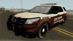 Ford Explorer 2012 Bone County Police para GTA San Andreas