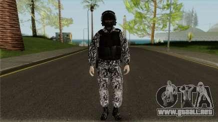 El empleado de SOBR para GTA San Andreas