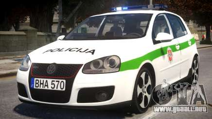 Volkswagen Golf 5 GTI Lithuanian Police para GTA 4
