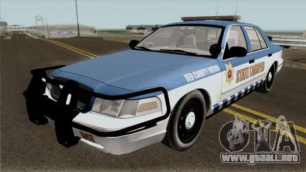 Ford Crown Victoria 2011 Red County Police para GTA San Andreas