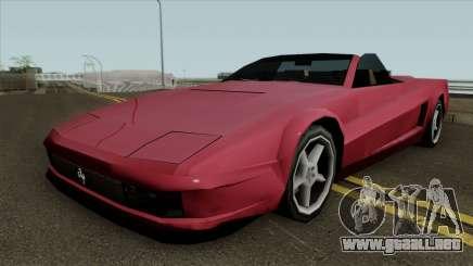 Nueva Guepardo SA de estilo para GTA San Andreas