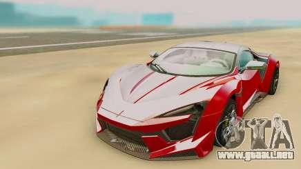 W Motors Fenyr SuperSport para GTA San Andreas