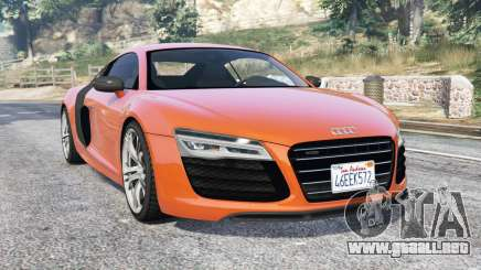 Audi R8 V10 Plus 2016 v1.1 [replace] para GTA 5