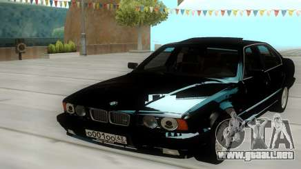BMW 525i E34 Black para GTA San Andreas