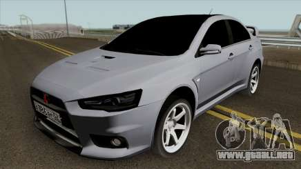 Mitsubishi Lancer Evolution X Light Tuning para GTA San Andreas