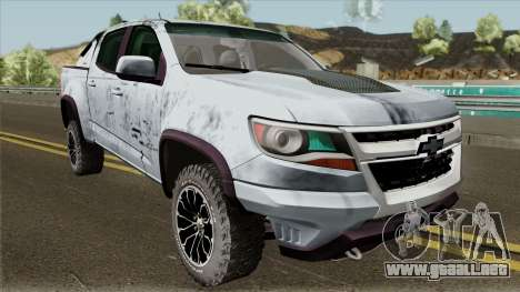 Chevrolet Colorado ZR2 2018 para visión interna GTA San Andreas