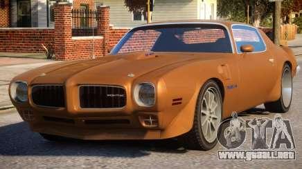 1970 Pontiac Trans Am para GTA 4