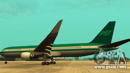 Boeing 767 P27 Teal Colores para GTA San Andreas