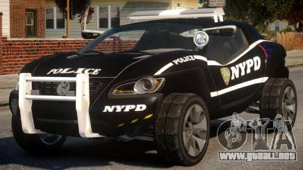 Volkswagen Concept T NYPD para GTA 4