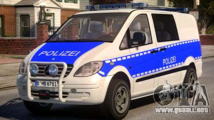 Mercedes Benz Vito German Police para GTA 4
