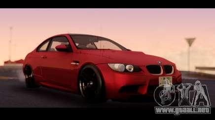 BMW 3-er M3 E92 para GTA San Andreas