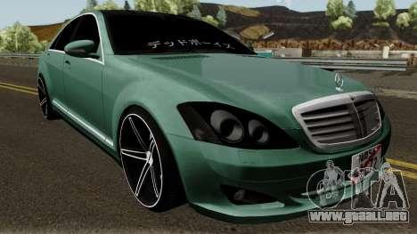 Mercedes-Benz S500 Vossen para visión interna GTA San Andreas