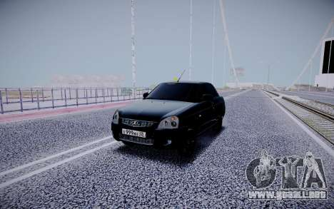 Lada Priora Black Edition para GTA San Andreas