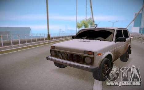 Lada Niva para GTA San Andreas vista hacia atrás
