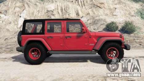 GTA 5 Jeep Wrangler Unlimited Rubicon (JL) 2018 vista lateral izquierda