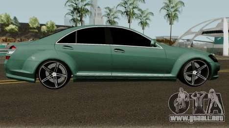 Mercedes-Benz S500 Vossen para GTA San Andreas vista hacia atrás